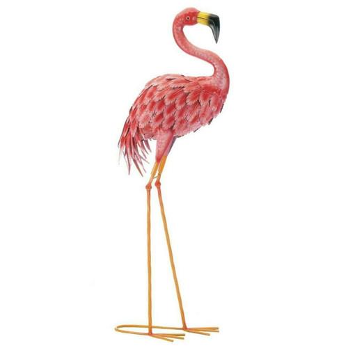 Bright Flamingo Yard Art - Looking Forward