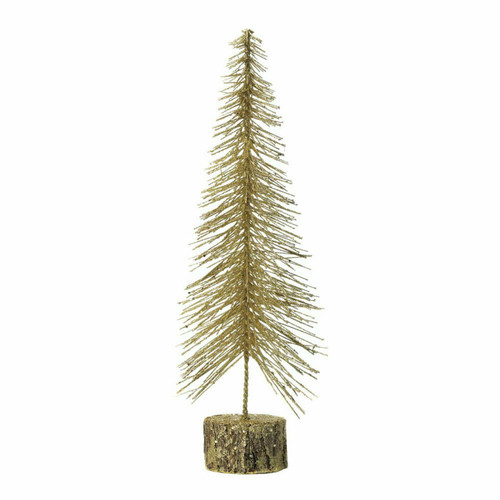 Gold Glitter Christmas Tree Decor - 16 inches