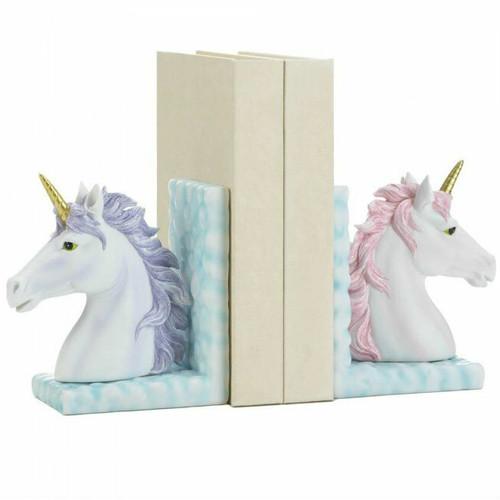 Pink and Purple Unicorn Cloud Bookend Set