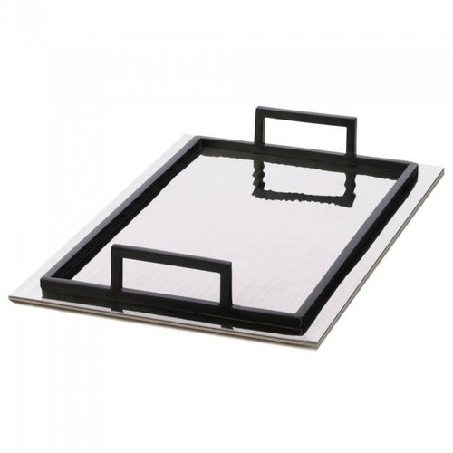 Rippled Mirrored Aluminum Serving Tray - Rectangle