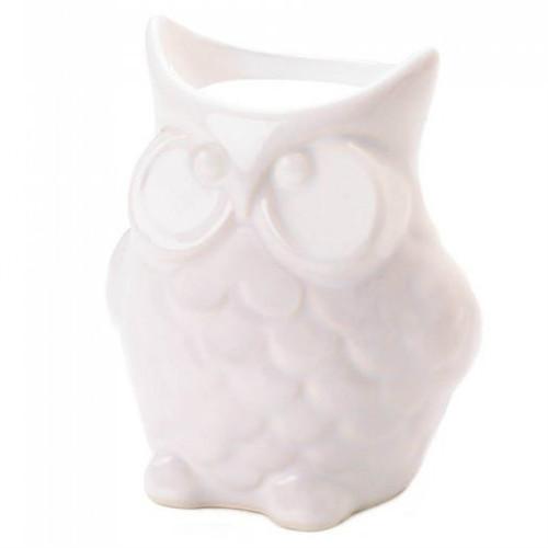 White Porcelain Owl Oil Warmer