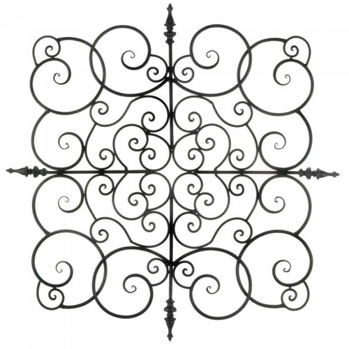 Square Scrolled Iron Wall Plaque