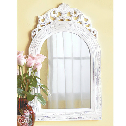 Weathered Wood Arch Mirror