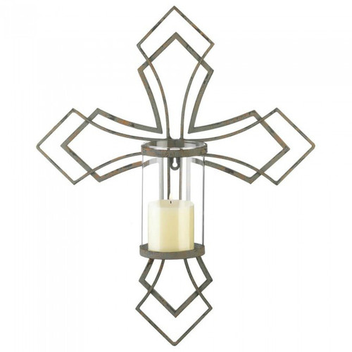 Contemporary Cross Candle Sconce