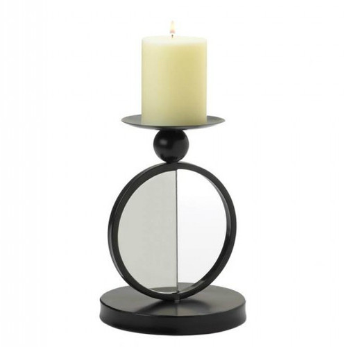Half-Circle Mirrored Candle Holder - Single