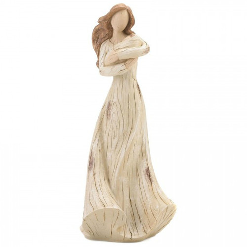 Mother and Baby Carved-Look Figurine