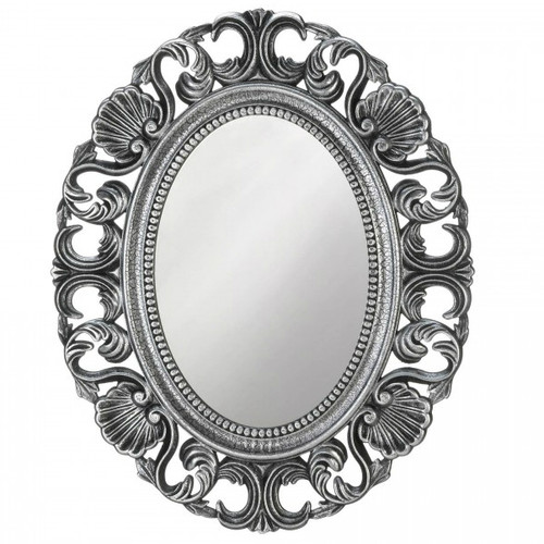 Silver Scallop Border Wall Mirror