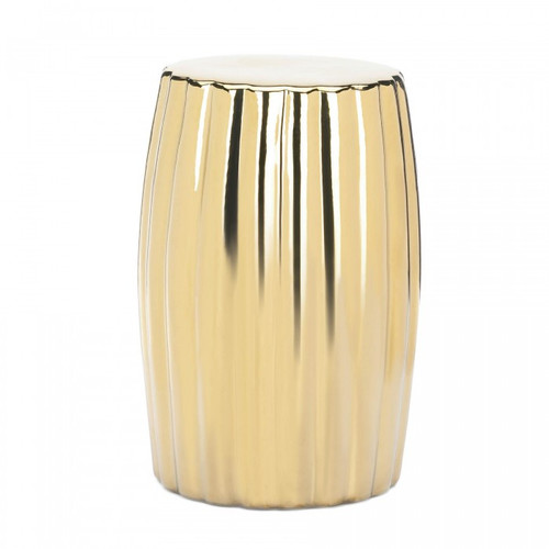 Dramatic Gold Ceramic Stool
