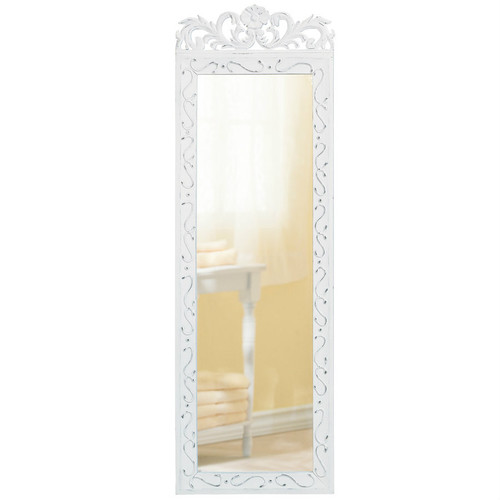 Romantic Scrolled Wood Wall Mirror