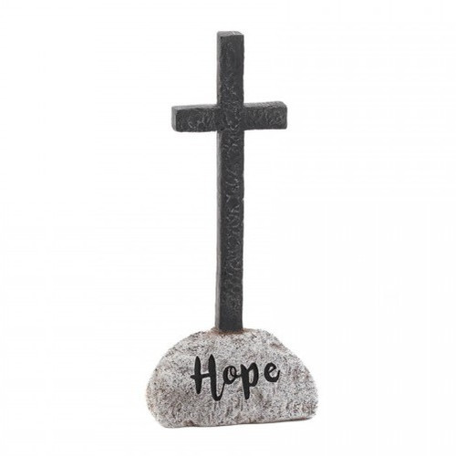 Stone and Cross Figurine - Hope