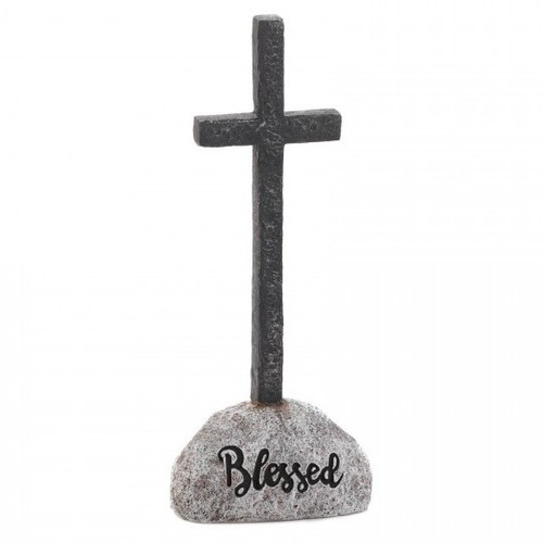 Stone and Cross Figurine - Blessed