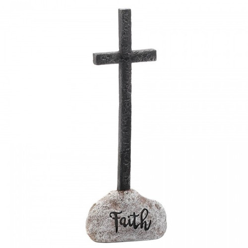 Stone and Cross Figurine - Faith