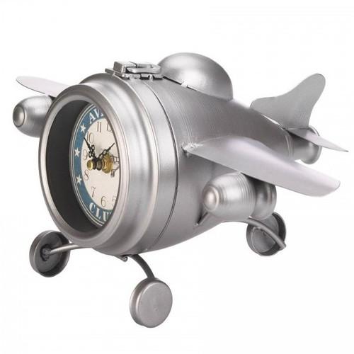 Vintage-Look Desk Clock - Aviation Club Jet