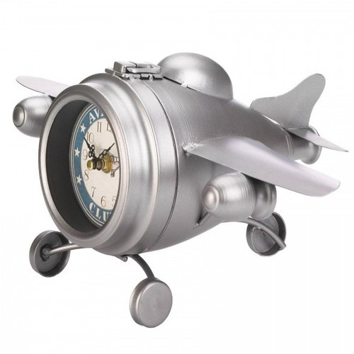 Vintage-Look Desk Clock - Aviation Club Jet