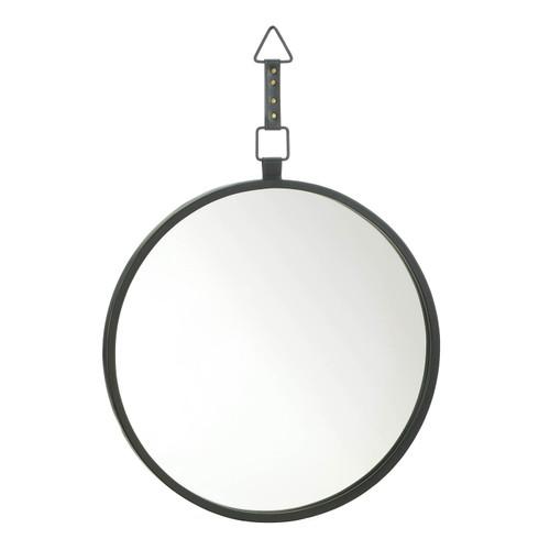Round Black Mirror with Strap