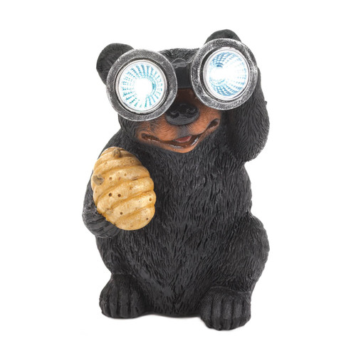 Bear with Binoculars Solar Garden Light