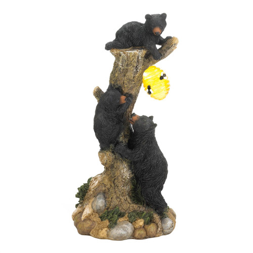Climbing Bears with Beehive Solar Garden Light