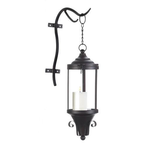 Industrial-Style Hanging Candle Lantern