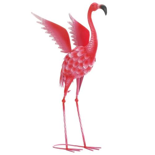 Flying Flamingo Metal Garden Decor Head Up - 27.5 inches