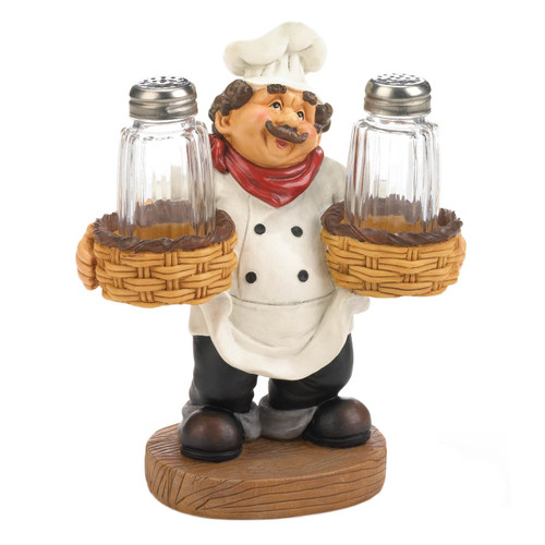 Italian Chef Salt and Pepper Set