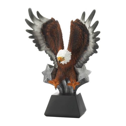 Eagle Statue with Shooting Stars