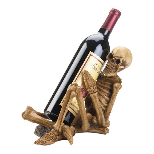 Creepy Skeleton Wine Bottle Holder
