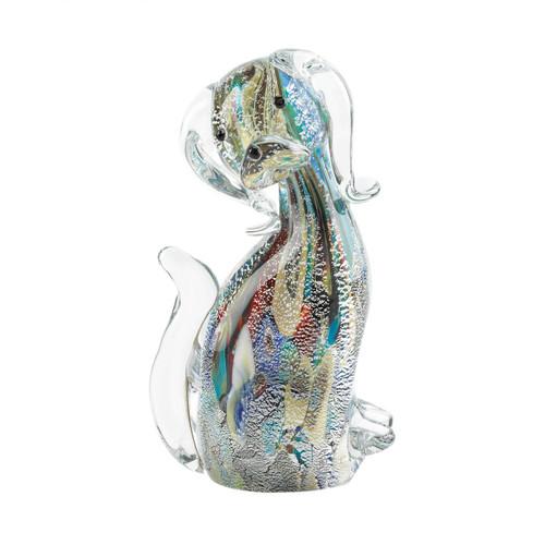 Art Glass Figurine - Multi-Color Dog