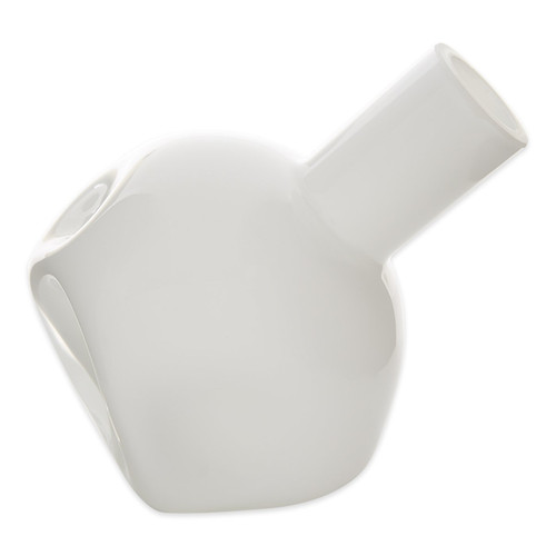 Abstract Glass Vase - White