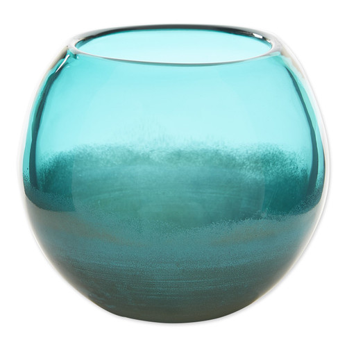Fish Bowl Style Vase - Aqua Gradient 5 inches