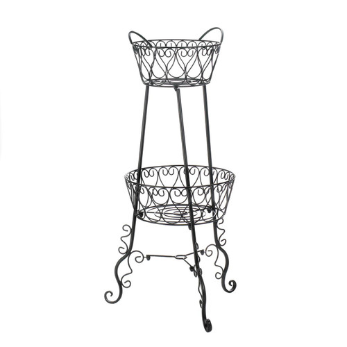 Two-Tier Metal Plant Stand
