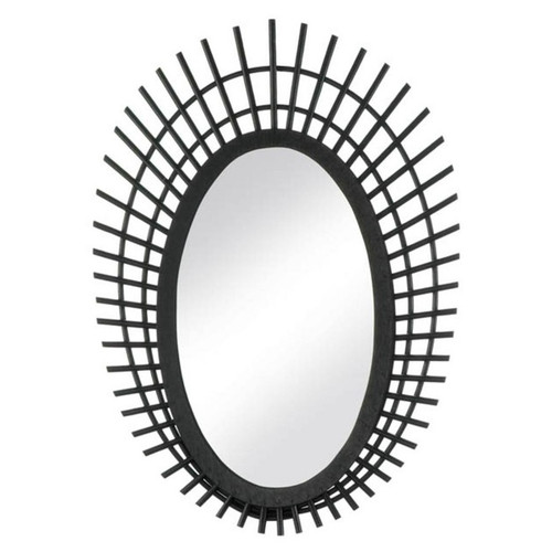 Riki Black Bamboo Mirror - 24 inches