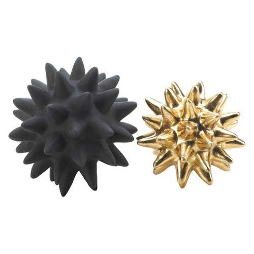 Black and Gold Spike Sculpture Set