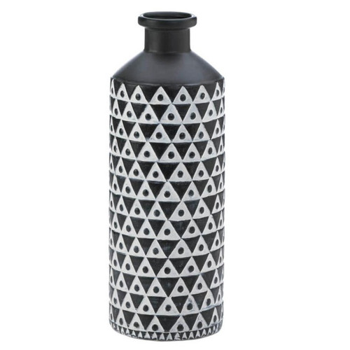 Black and White Geometric Porcelain Vase