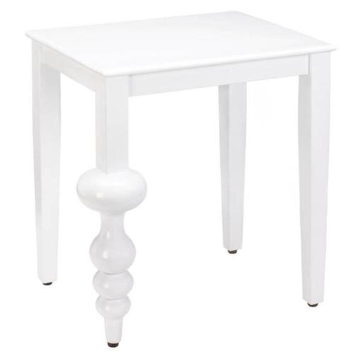 Milan White Accent Table