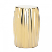 Dramatic Gold Ceramic Stool - AEWholesale