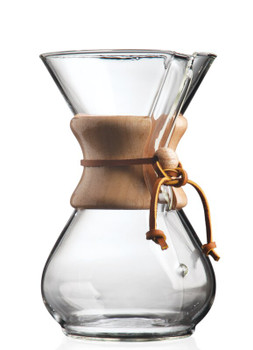 Chemex Classic 6 Cup Coffeemaker Wood Collar (30 oz)