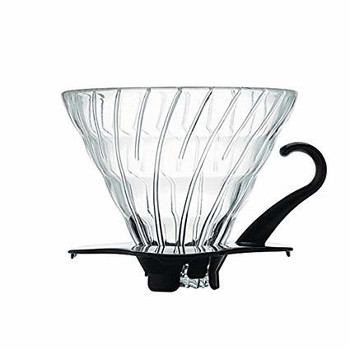 Hario V60 (01) Black Glass Dripper: 1-2 Cups