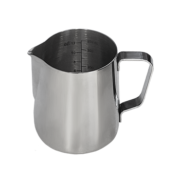 Java Gear Stainless Steel Milk Pitcher with Measurements (350 mll)