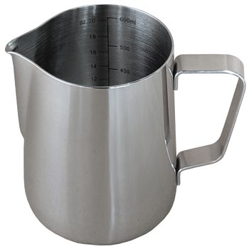 Java Gear Stainless Steel Milk Pitcher with Measurements (600 ml)