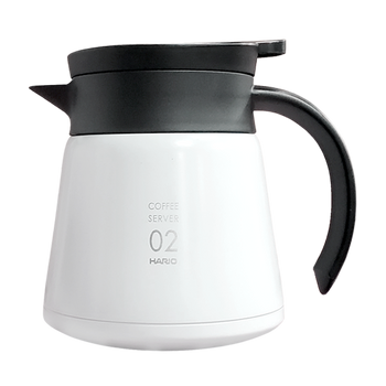Hario V60 White Stainless Server (600ml)
