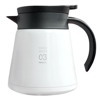 Hario V60 White Stainless Server 800ml