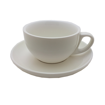 Java Gear 12 oz Ceramic Cup & Saucer