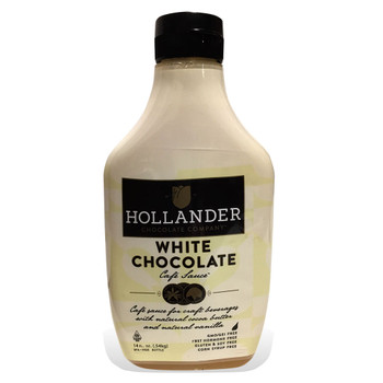 Hollander White Chocolate Cafe Sauce - Squeeze Bottle