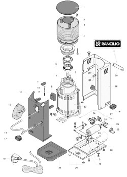 Rancilio Rocky No Doser - Parts Diagram
