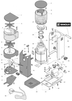 Rancilio Rocky Doser - Parts Diagram