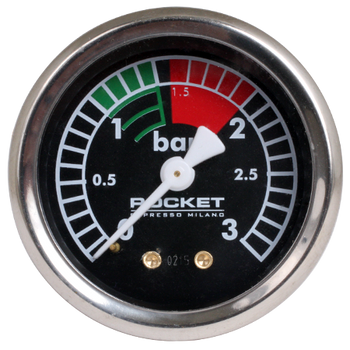 Rocket Black Boiler Pressure Gauge (0-3 bar)