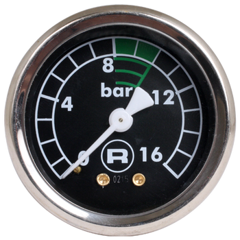 Rocket Black Pump Pressure Gauge (0-16 bar)