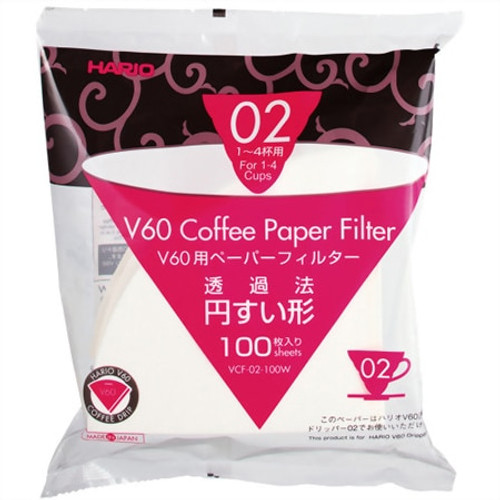 Hario V60 (02) Coffee Paper Filters: 1-4 Cups