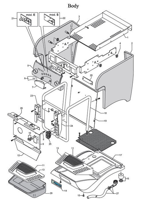 Rancilio Epoca 1 Group - Parts Diagram