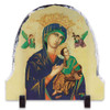 Mother of Perpetual Help Arched Slate Tile